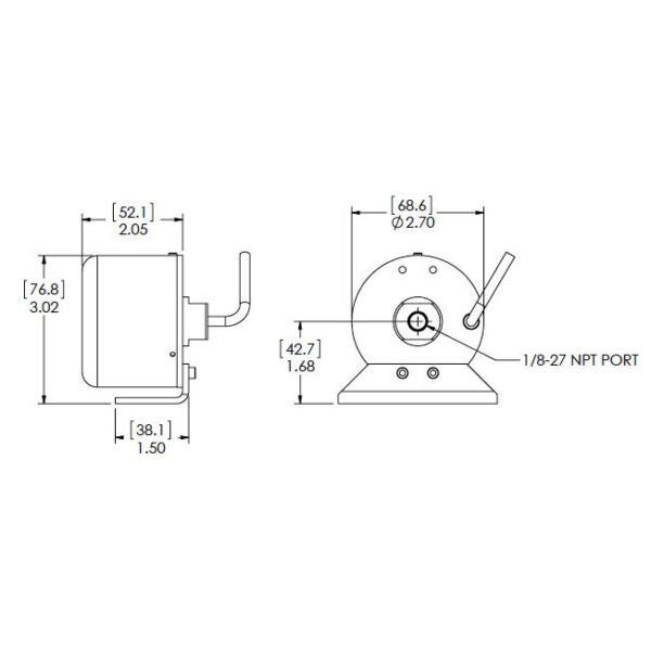 Setra Systems - 270 - Barometertrykkgiver med stor nøyaktighet ±0.03% FS og stabilitet VDC utgang 2