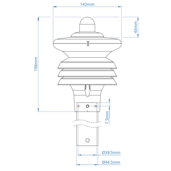 GMX301 Værstasjon – Temp, RH, Trykk og Solstråling 2