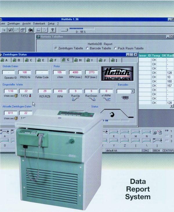 Hettich - HettInfo blodbank - Sentrifuge, datasystem 1