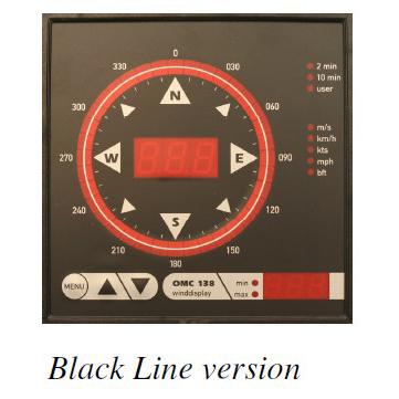 Observator Instruments - OMC-138 - Display, vind med kompassrose 1