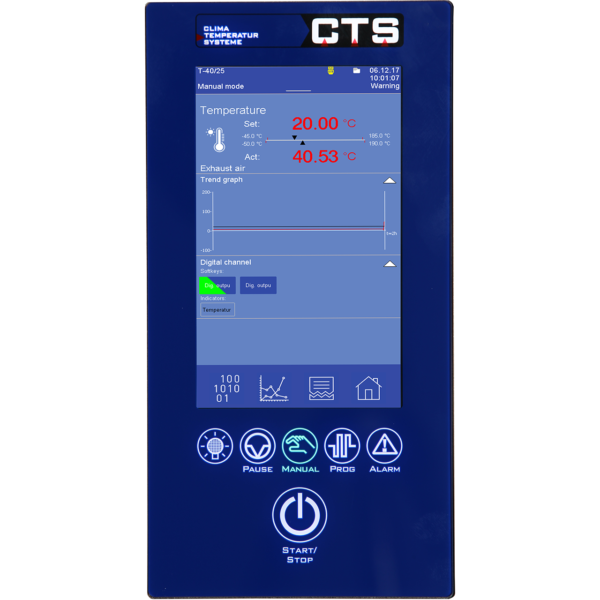 CTS Touchpanel temperatur