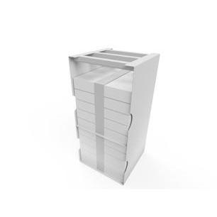 Hyllesystem frysebokser – Lagringsløsning for Pfizer Covid-19 «pizza»-bokser 1
